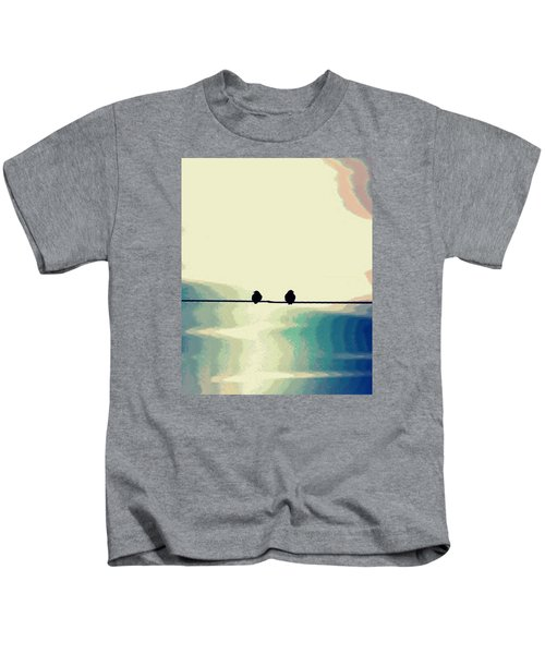 Birds On A Wire Kids T-Shirt