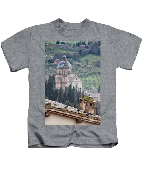 Birds Overlooking The Countryside Kids T-Shirt