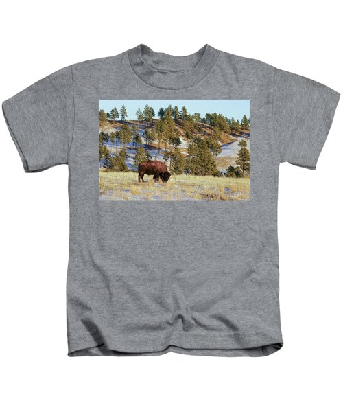 Bison In Custer State Park Kids T-Shirt