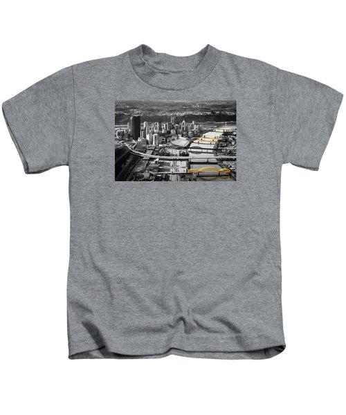 Black And Gold Pittsburgh  Kids T-Shirt