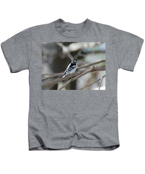 Black And White Bird Kids T-Shirt