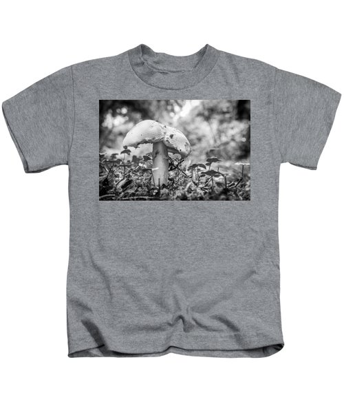 Black And White Mushroom. Kids T-Shirt