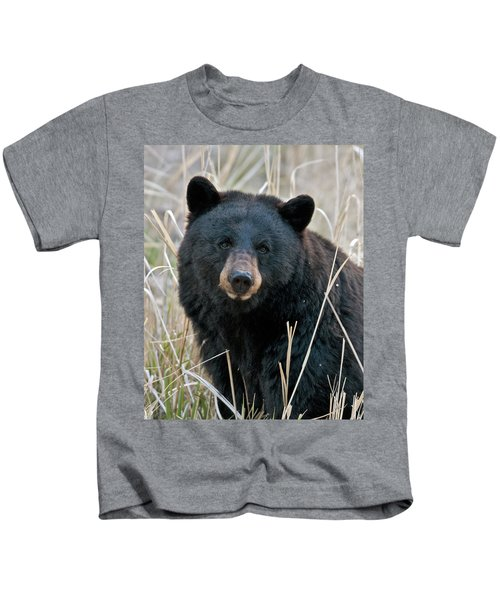 Black Bear Closeup Kids T-Shirt