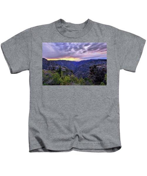 Black Canyon Sunset Kids T-Shirt