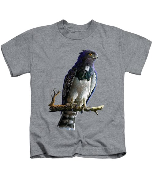 Black Chested Snake Eagle Kids T-Shirt