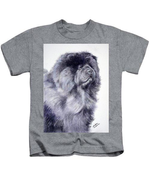 Black Chow Chow  Kids T-Shirt