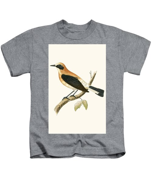 Black Eared Wheatear Kids T-Shirt by English School
