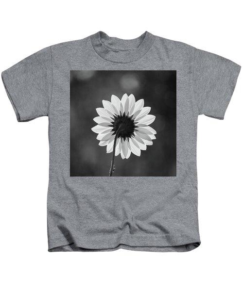 Black-eyed Susan - Black And White Kids T-Shirt