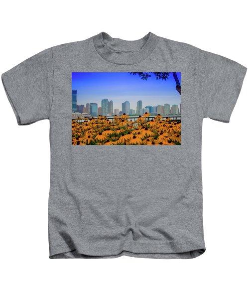 Black Eyed Susans In Battery Park Kids T-Shirt