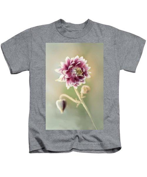 Blooming Columbine Flower Kids T-Shirt