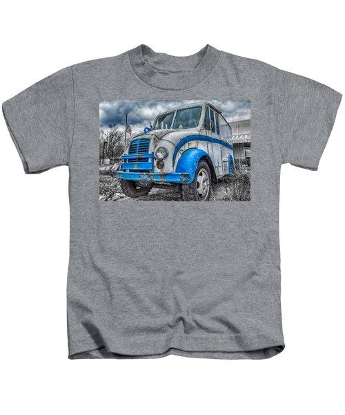 Blue And White Divco Kids T-Shirt