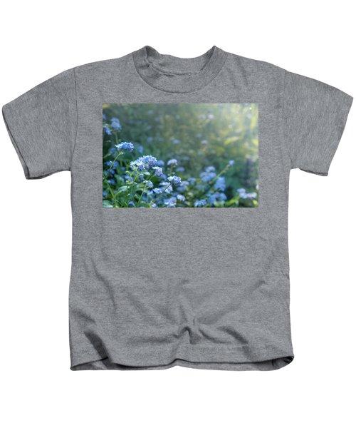 Blue Blooms Kids T-Shirt
