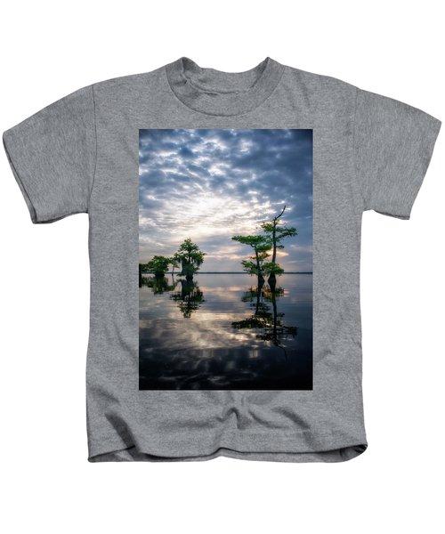 Blue Cypress Sunrise #1 Kids T-Shirt