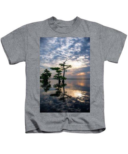 Blue Cypress Sunrise #2 Kids T-Shirt