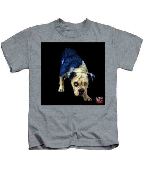 Blue English Bulldog Dog Art - 1368 - Bb Kids T-Shirt