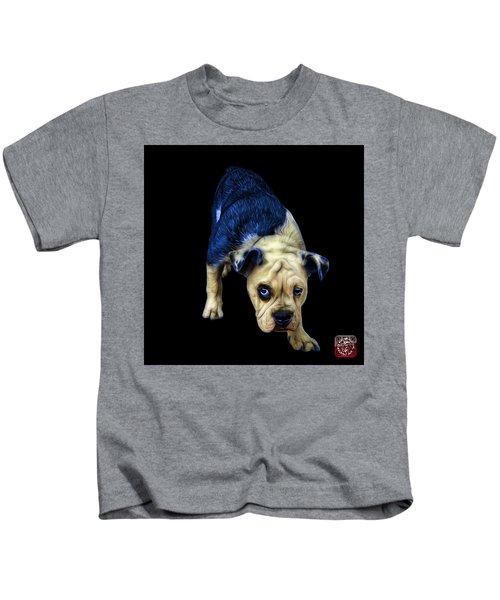 Blue English Bulldog Dog Art - 1368 - Bb Kids T-Shirt