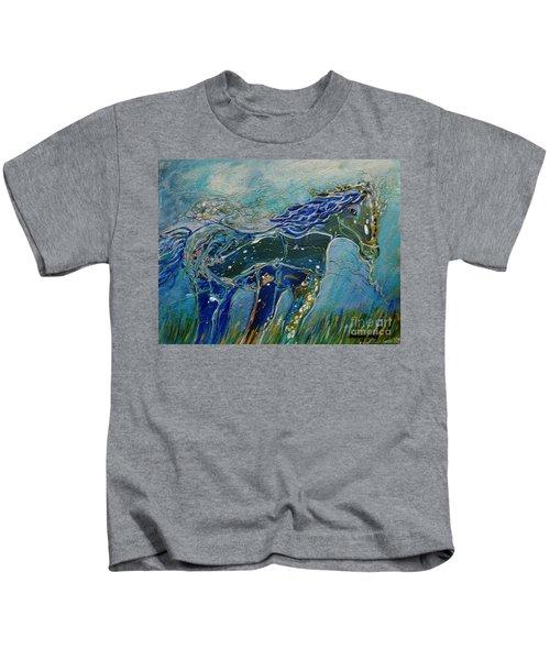 Blue Horse Kids T-Shirt