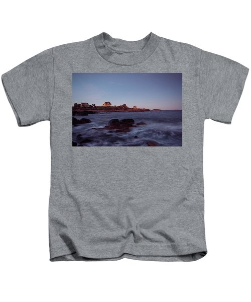 Blue Hour In Gloucester Kids T-Shirt
