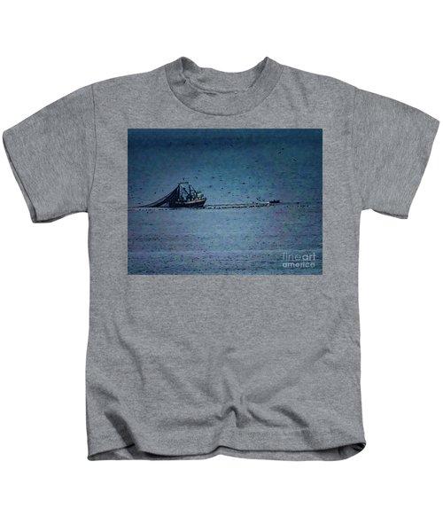 Blue Trawler 1 Kids T-Shirt