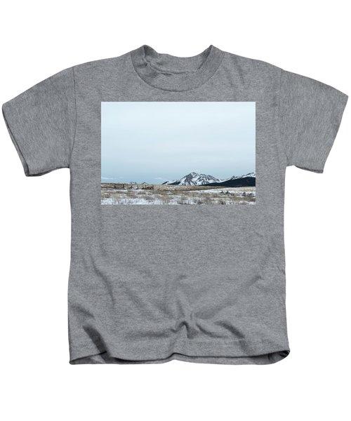 Blue Winter Kids T-Shirt