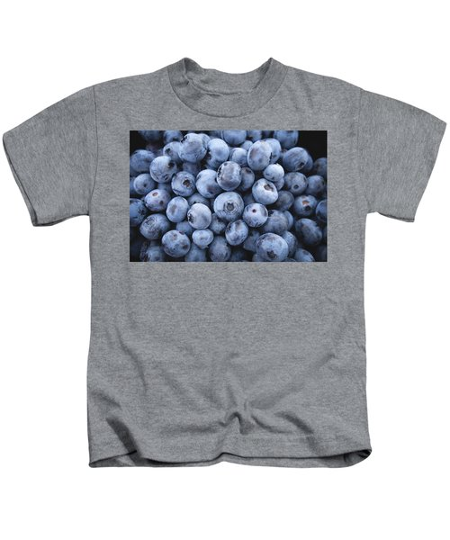 Blueberries Kids T-Shirt by Happy Home Artistry