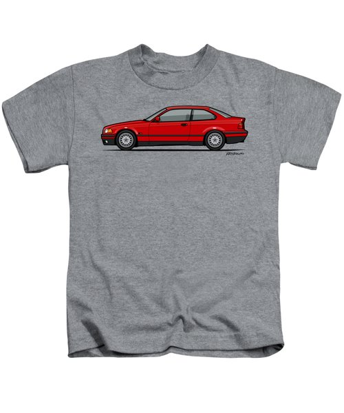 Bmw 3 Series E36 Coupe Red Kids T-Shirt