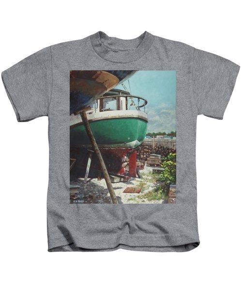 Boat Yard Boat 01 Kids T-Shirt