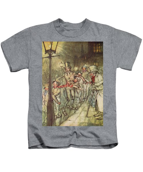 Bob Cratchit Went Down A Slide On Cornhill Kids T-Shirt