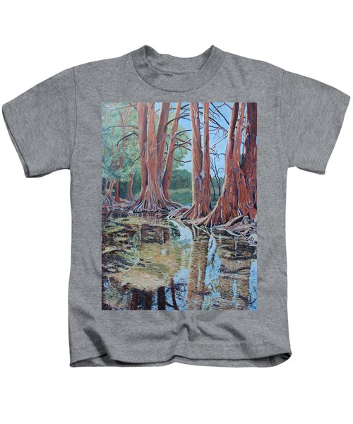 Boerne River Scene Kids T-Shirt