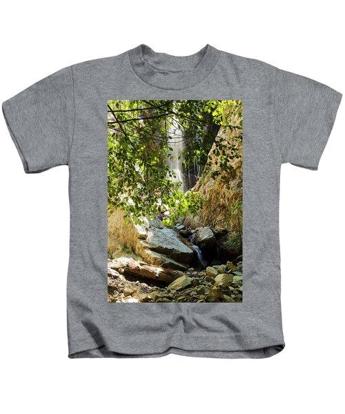 Bonita Falls Through Leaves Kids T-Shirt