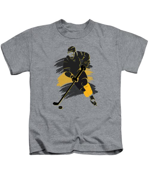 Boston Bruins Player Shirt Kids T-Shirt by Joe Hamilton