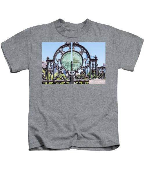 Boston Garden Gate Detail Kids T-Shirt