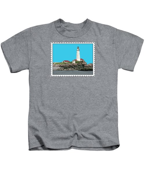 Boston Harbor Lighthouse Kids T-Shirt
