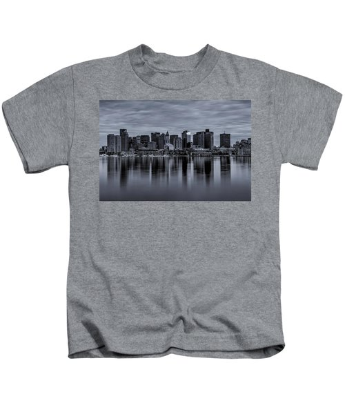Boston In Monochrome Kids T-Shirt