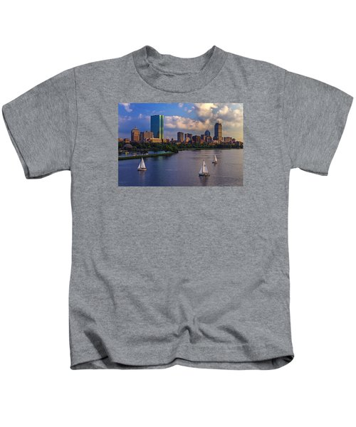 Boston Skyline Kids T-Shirt by Rick Berk