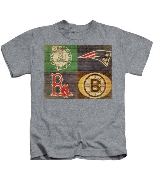 Boston Sports Teams Barn Door Kids T-Shirt