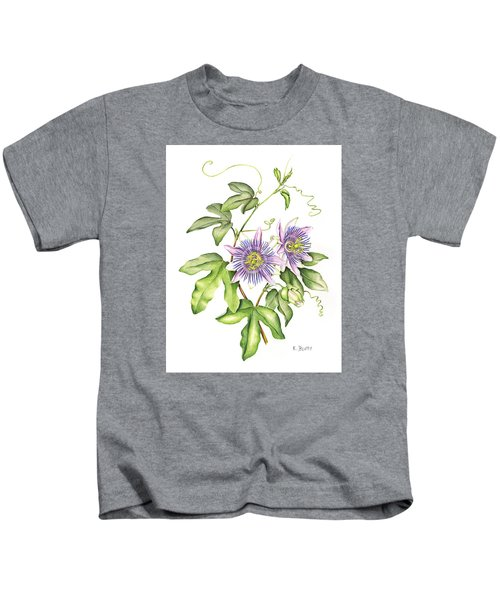 Botanical Illustration Passion Flower Kids T-Shirt