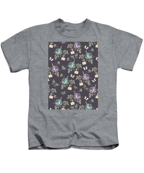 Botanical Roses Kids T-Shirt by Stephanie Davies