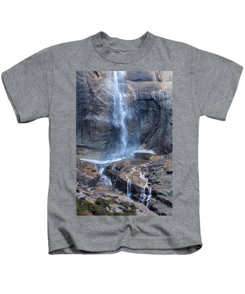 Bottom Part Of Upper Yosemite Waterfall Kids T-Shirt