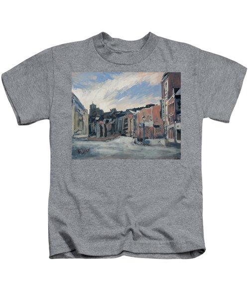 Boulevard La Sauveniere Liege Kids T-Shirt by Nop Briex
