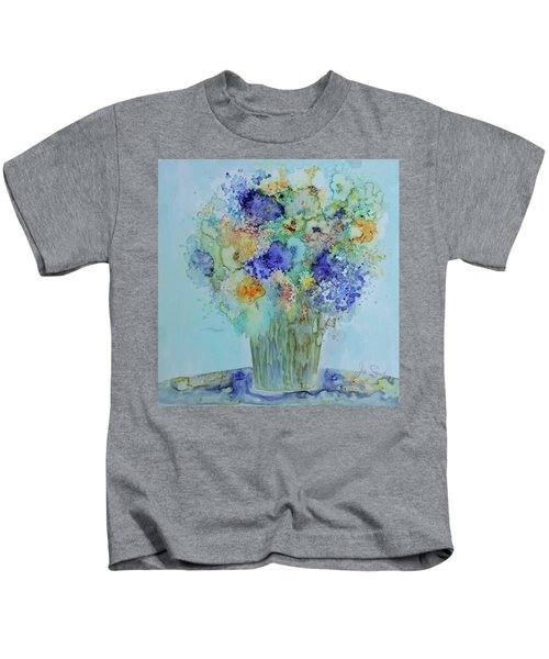 Bouquet Of Blue And Gold Kids T-Shirt