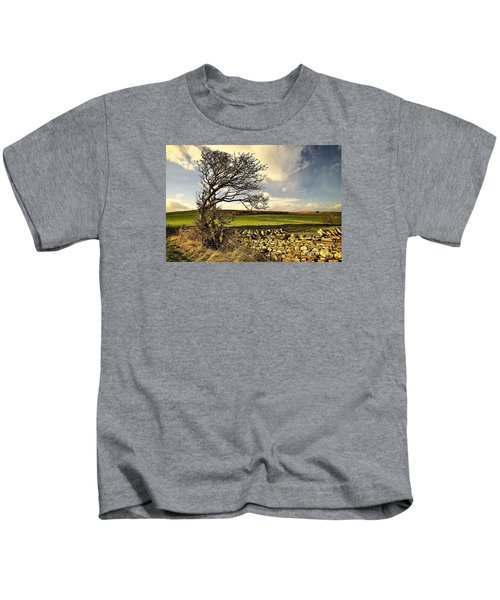Bowing To The Wind Kids T-Shirt