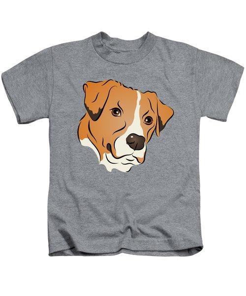 Boxer Mix Dog Graphic Portrait Kids T-Shirt