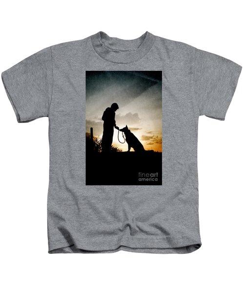 Boy And His Dog Kids T-Shirt