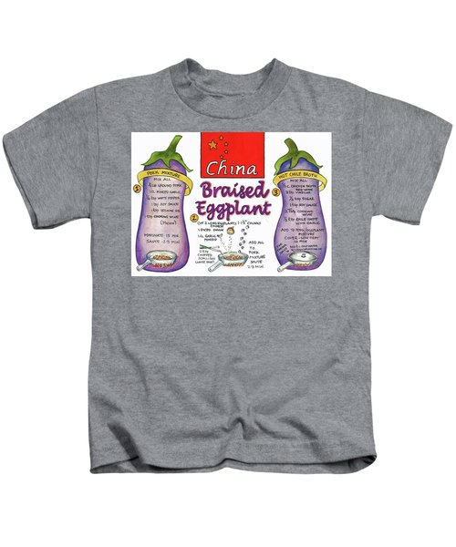 Braised Eggplant Kids T-Shirt