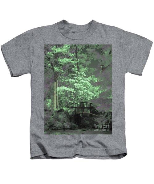 Bridge At Clark Gardens Kids T-Shirt