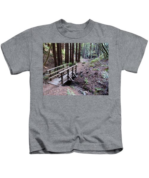 Bridge In The Redwoods Kids T-Shirt