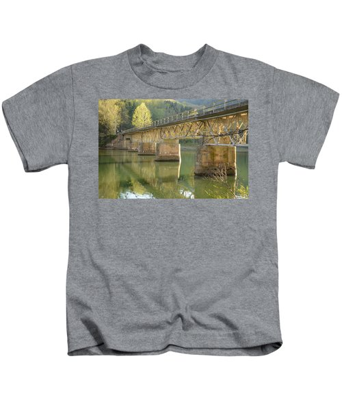 Bridge Over Calm Water Kids T-Shirt