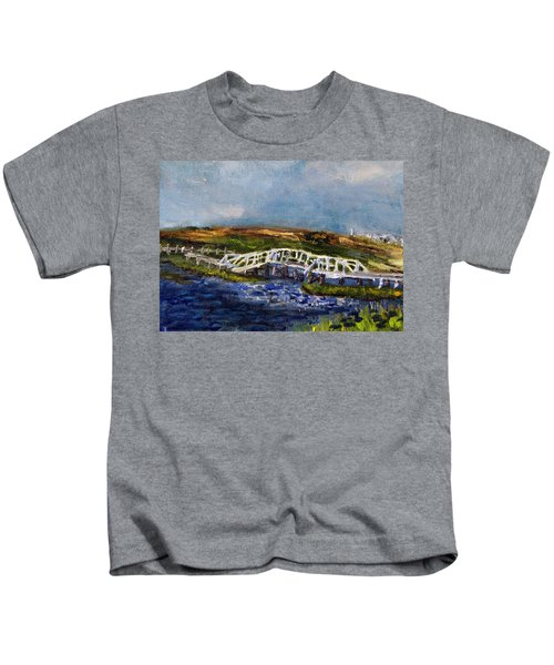 Bridge Over The Marsh Kids T-Shirt