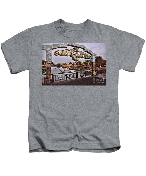 Bridge Sign Color Hoi An Kids T-Shirt